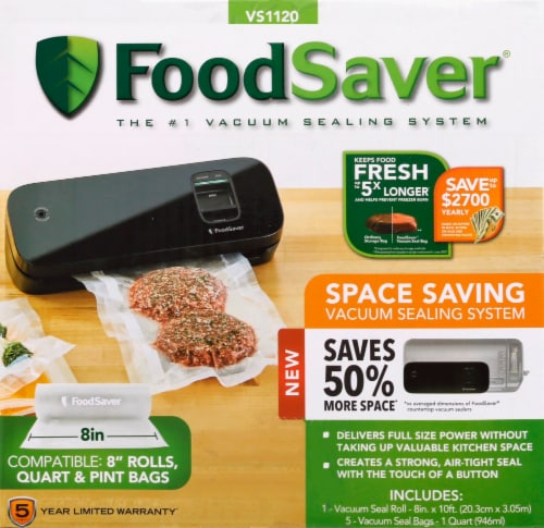 FoodSaver® Space Saving Food Vacuum Sealer - Black Perspective: left