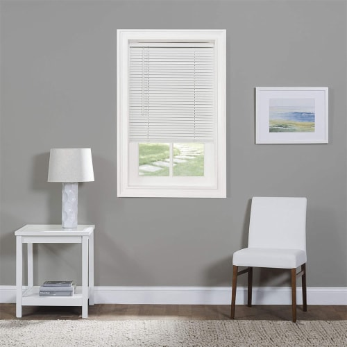 Achim GII Morningstar 46 x 64 Inch Cordless Vinyl Window Light Filtering Blinds Perspective: left