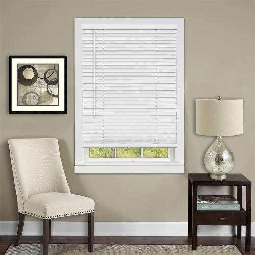 "Cordless GII Deluxe Sundown 1"" Room Darkening Mini Blind 39x64 - Pearl White Perspective: left"