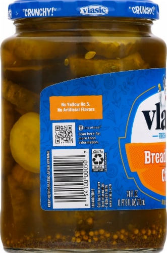 Vlasic Bread & Butter Pickle Chips Perspective: left