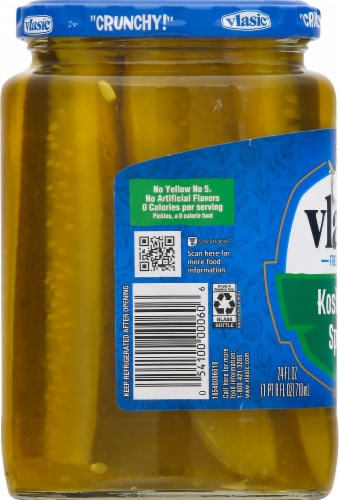 Vlasic Kosher Dill Pickle Spears Perspective: left