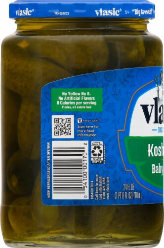 Vlasic Baby Wholes Kosher Dill Pickles Perspective: left