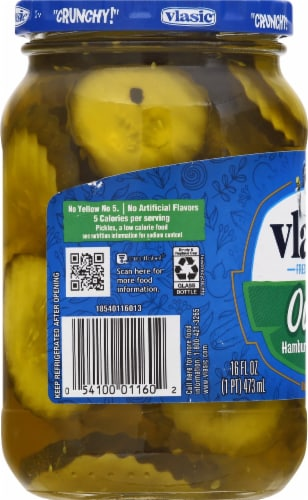 Vlasic Ovals Hamburger Dill Pickle Chips Perspective: left