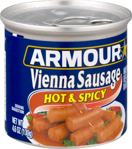 Armour Hot & Spicy Vienna Sausage Perspective: left