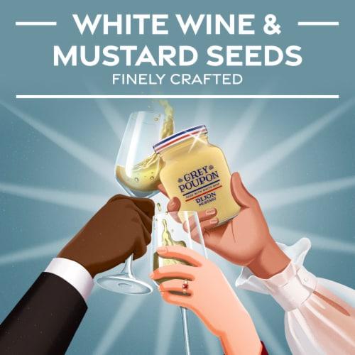 Grey Poupon Dijon Mustard Perspective: left