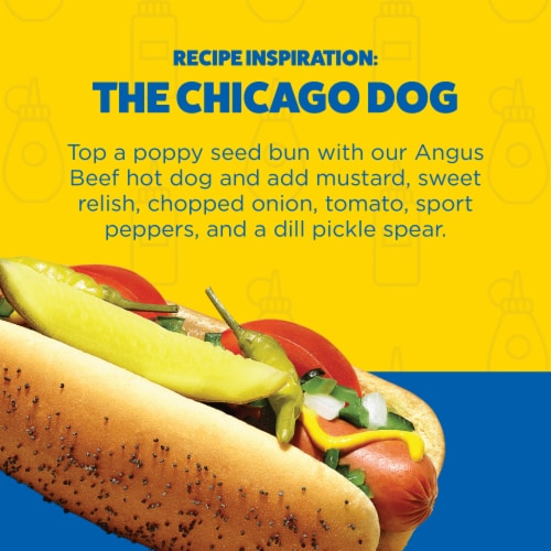 Ball Park Angus Beef Hot Dogs Original Length Perspective: left
