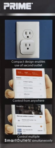Prime Indoor WiFi Controlled Outlet Perspective: left