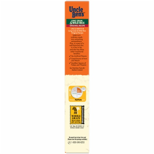 Uncle Ben's Flavored Grains Original Recipe Long Grain & Wild Rice Perspective: left
