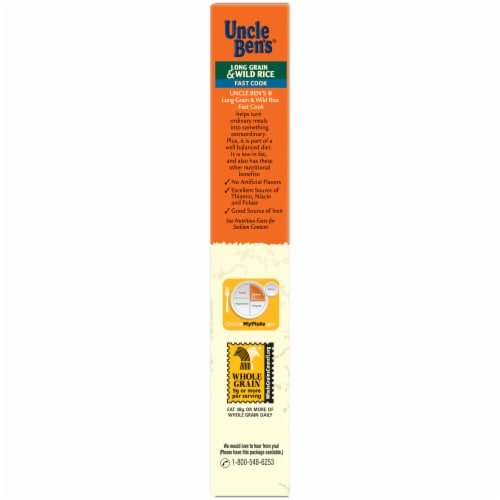 Uncle Ben's Flavored Grains Fast Cook Long Grain & Wild Rice Perspective: left