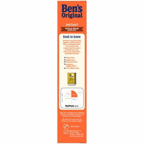 Ben's Original Instant Brown Rice Perspective: left
