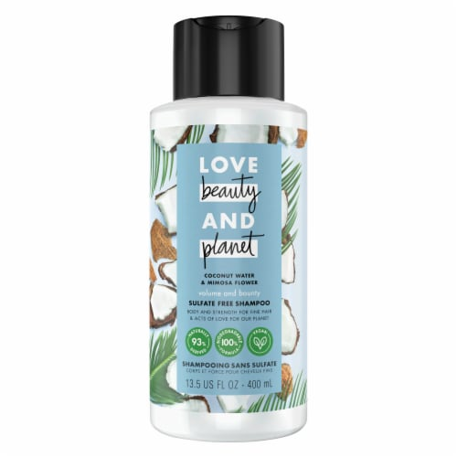 Love Beauty & Planet Volume and Bounty Coconut Water & Mimosa Flower Shampoo Perspective: left