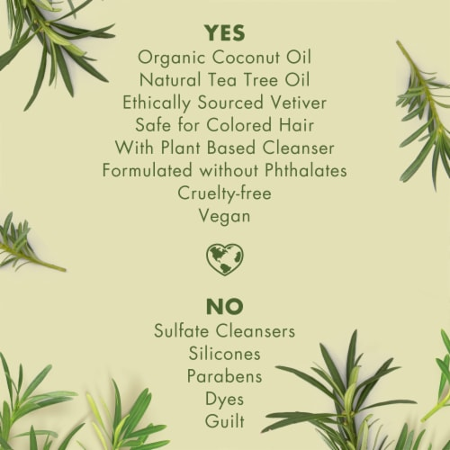 Love Beauty and Planet Radical Refresher Tea Tree Oil & Vetiver Shampoo Perspective: left