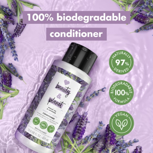 Love Beauty and Planet Smooth and Serene Argan Oil & Lavender Conditioner Perspective: left