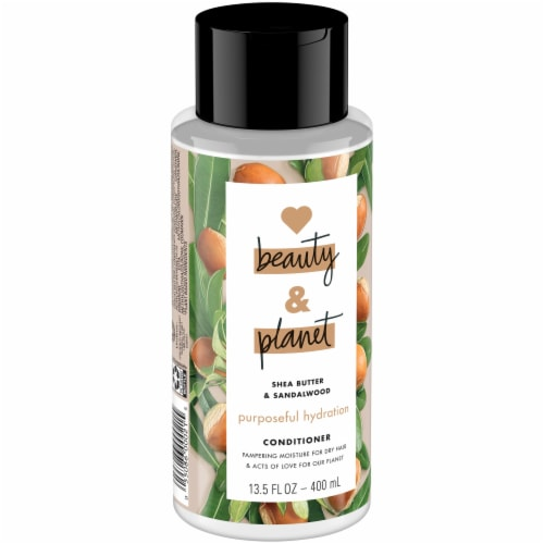 Love Beauty and Planet Shea Butter & Sandalwood Purposeful Hydration Conditioner Perspective: left