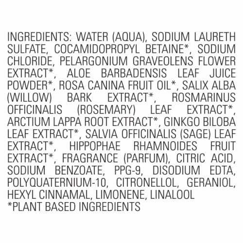 ApotheCARE Essentials Rosehip Oil Geranium Aloe Vera Shampoo Perspective: left