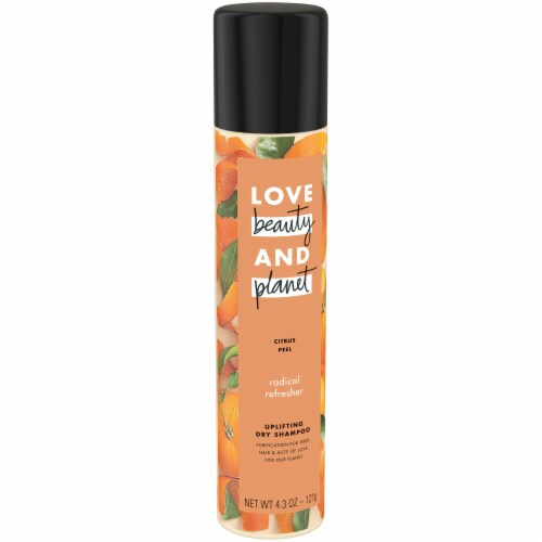 Love Beauty and Planet Radical Refresher Citrus Peel Uplifting Dry Shampoo Perspective: left