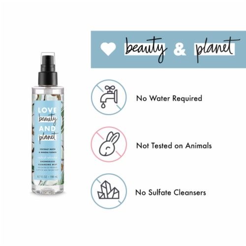Love Beauty & Planet Radical Refresher Coconut Water & Mimosa Flower Cleansing Body Mist Perspective: left