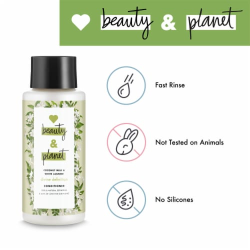 Love Beauty and Planet Divine Definition Coconut Milk & White Jasmine Conditioner Perspective: left