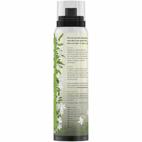 Love Beauty and Planet Coconut Milk & White Jasime Medium Hold & Volume Hair Spray Perspective: left