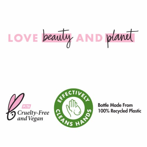 Love Beauty & Planet Bountiful Bouquet Murumuru Butter & Rose Hand Soap Perspective: left