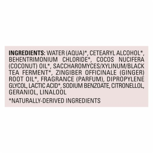 Love Beauty and Planet Silicone-Free Black Tea Kombucha & Red Ginger Nourishing Conditioner Perspective: left