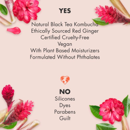 Love Beauty & Planet Paraben-Free Black Tea Kombucha & Red Ginger Body Lotion Perspective: left