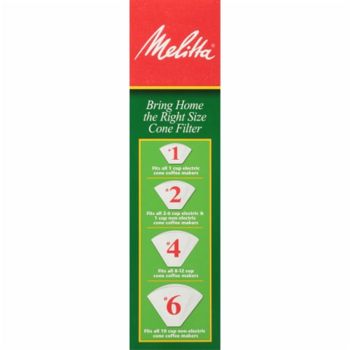 Melitta #4 Cone White Paper Coffee Filters Perspective: left