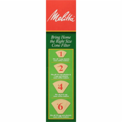 Melitta #4 Cone Coffee Filters - Natural Brown Perspective: left