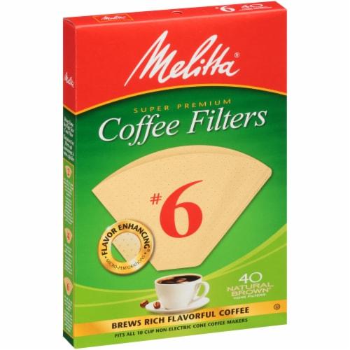 Melitta Super Premium #6 Paper Cone Coffee Filters Perspective: left
