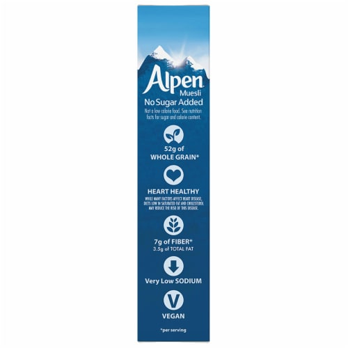 Alpen No Sugar Added Muesli Cereal Perspective: left