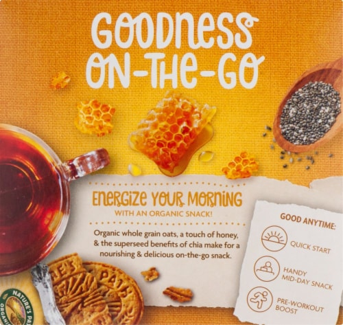 Nature's Path Organic Sunrise Honey & Chia Breakfast Biscuits Perspective: left