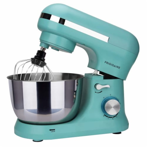 Frigidaire 4.5 Liter 8 Speed Electric Countertop Stand Mixer w/Accessories, Blue Perspective: left