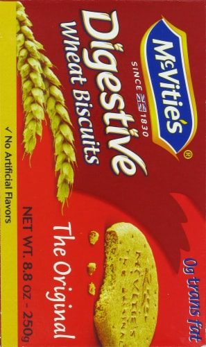 McVitie's Original Digestive Wheat Biscuits Perspective: left