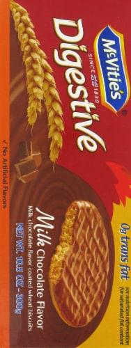 Mcvitie's Milk Chocolate Digestive Wheat Biscuits Perspective: left