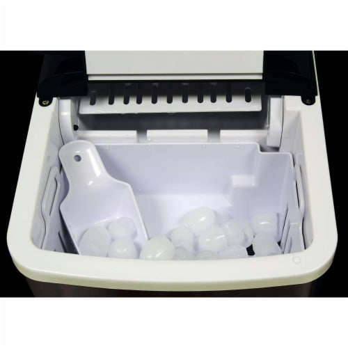 Koolatron Countertop Portable Auto Ice Maker Machine, 26 Pound Capacity, Black Perspective: left
