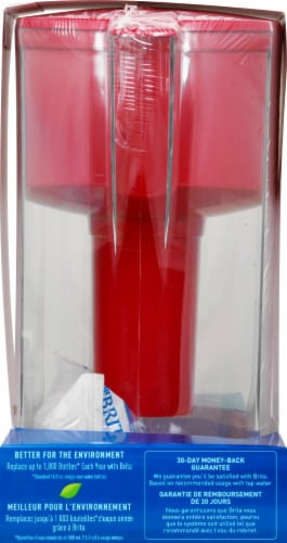 Brita Grand 10-Cup Water Filtration Pitcher - Red Perspective: left