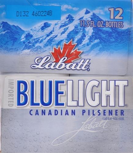 Labatt Blue Light Canadian Pilsner Perspective: left