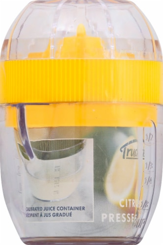 Trudeau Citrus Juicer - Yellow Perspective: left