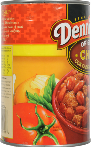 Dennison's Original Chili Con Carne with Beans Perspective: left