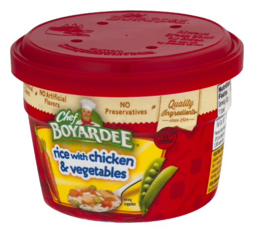 Chef Boyardee Rice with Chicken & Vegetable Microwavable Bowl Perspective: left