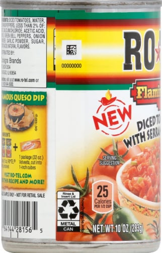 Rotel Diced Tomatoes with Serrano Peppers Perspective: left