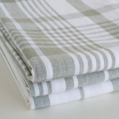 Now Designs Extra Large Wovern Cotton Kitchen Dish Towels London Gray Set of 3 Perspective: left