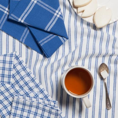 Now Designs Tic Tac Toe 100% Cotton Royal Blue Kitchen Dish Towels Perspective: left