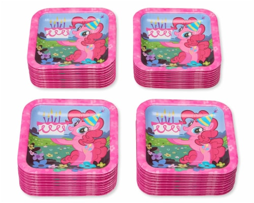 American Greetings My Little Pony Disposable Paper Dessert Plates Perspective: left