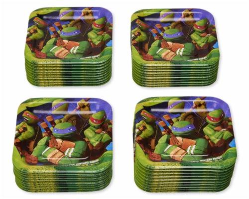 American Greetings Teenage Mutant Ninja Turtle Paper Dessert Plates Perspective: left