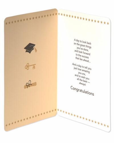 American Greetings Jumbo Graduation Card (All the Best) Perspective: left