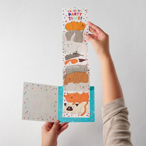 American Greetings Birthday Card for Kids (Paws) Perspective: left