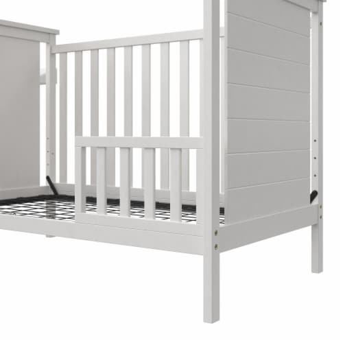 Baby Relax Amelia Toddler Guardrail, White Perspective: left