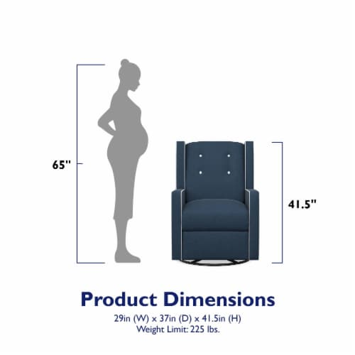 Baby Relax Mikayla Swivel Glider Recliner Chair Perspective: left