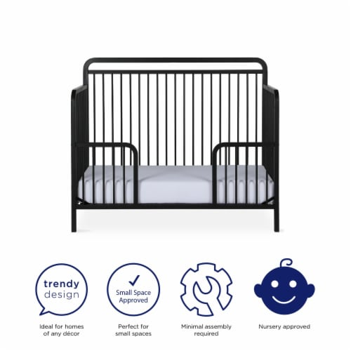 Baby Relax Juniper Metal Toddler Guardrail Perspective: left